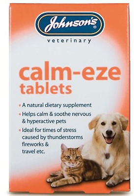 £7.84 • Buy Johnsons Calm-Eze 72 Tablets (2x36) Nervous Soothes Hyper Active Dog Cat Remedy