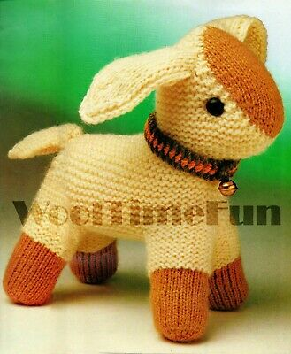 £1.70 • Buy Knitting Pattern To Make Vintage Toy Lamb/Sheep With Collar & Bell. 27 Cm Tall.