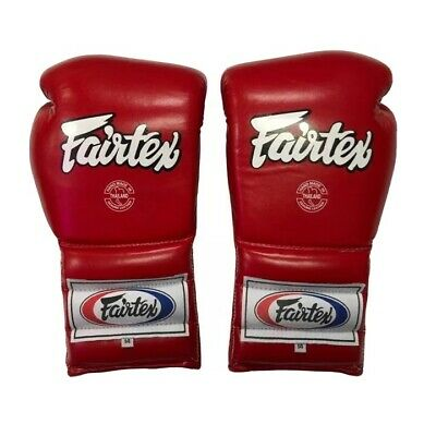 $120 • Buy NEW FAIRTEX PRO TRAINING MUAY THAI GLOVES MEXICAN STYLE LACE-UP BGL7 RED 14 Oz