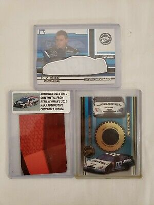 $14.99 • Buy Lot Of 3 Ryan Newman Nascar RACE USED 2011 Sheetmetal - 2002 Car Cover And Tire
