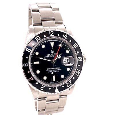 $ CDN12682.01 • Buy Rolex GMT Master II 16710 Black Dial L Serial Stainless Steel 1989
