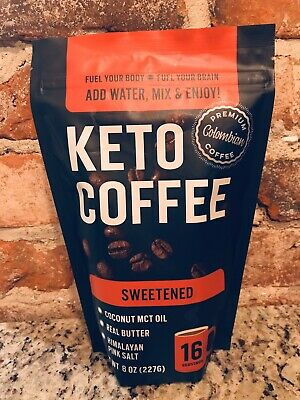 $19.99 • Buy KETO COFFEE With Real Butter, MCT Oil, And Himalayan Pink Salt (Sweetened)