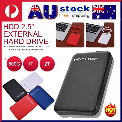 AU48.99 • Buy External Hard Drive Disk Storage Devices 2.5'' USB3.0 SATA High Speed 6Gbps 2TB