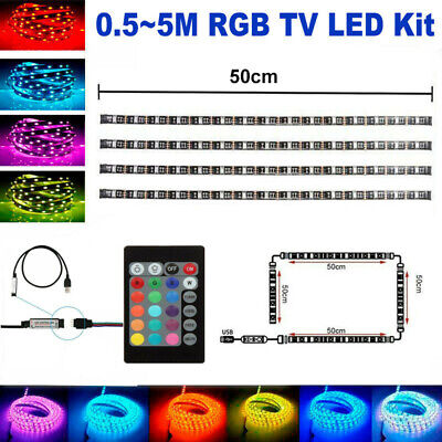 $6.55 • Buy RGB 5050 LED Strip Lighting Kit With Remote USB Powered For TV Background Light