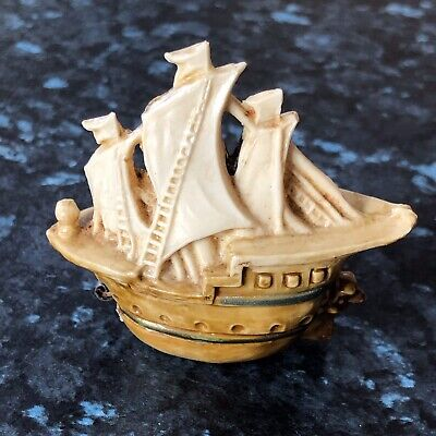 Vintage Celluloid Novelty Tape Measure In Form Of Galleon - Retractable Tape • 49.99£