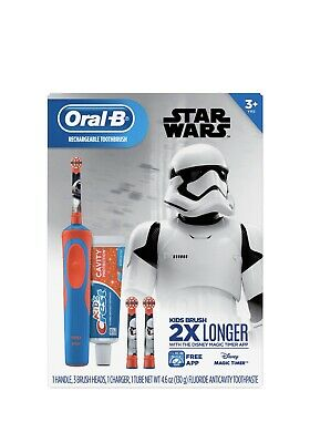 AU38.63 • Buy Oral-B Kid's Vitality Star Wars Electric Rechargeable Toothbrush With Crest