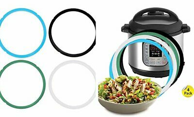 $13.66 • Buy Pack Of 4 Silicone Sealing Rings For Instant Pot 5 & 6 Quart
