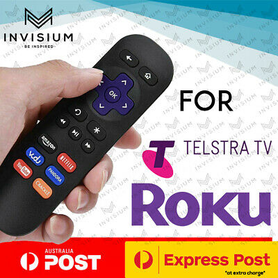 AU9.90 • Buy Replacement ROKU 4 3 2 1 Telstra TV & TV2 Remote Control NETFLIX BUTTON AU Stock