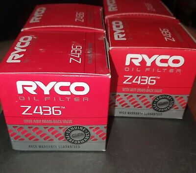 AU70 • Buy Ryco Z436 Oil Filter - Pack Of 4 - Melbourne Stock