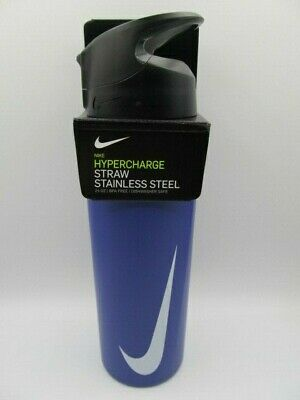 $11.65 • Buy Nike SS Hypercharge Straw Water Bottle 24oz Psychic Purple/Anthracite/White