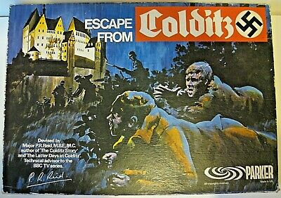 Escape From Colditz. Parker Games Vintage Board Game. Not Played With. • 64.95£