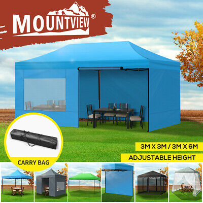 AU69.99 • Buy Mountview Gazebo Pop Up Marquee 3x3/4.5/6m Canopy Outdoor Wedding Tent Camping