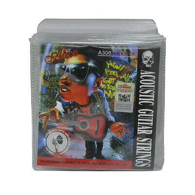 $ CDN41.80 • Buy 10Sets Alice Acoustic Guitar Strings Silver Plated Copper Alloy Wound A306SL