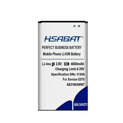 $19.21 • Buy HSABAT AB3160AWMT 4600mAh Battery For Philips Xenium E570 CTE570 Batteries