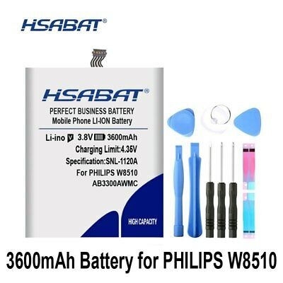 $34.60 • Buy HSABAT AB3300AWMC 3600mAh Battery For PHILIPS W8510 Xenium W8510 Battery AB3300A