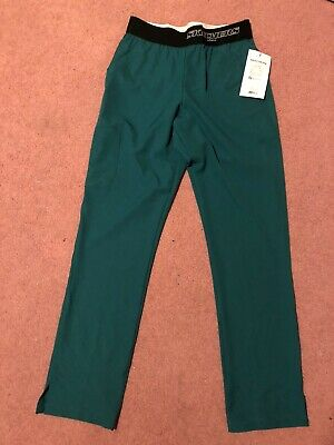 $20 • Buy NWT Skechers Hunter Green Logo Waistband Barco 3 Pocket Scrub Pants Size Small