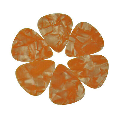 $ CDN11.24 • Buy Lots Of 100pcs Thin 0.46mm Celluloid Blank Guitar Picks Plectrum Pearl Orange