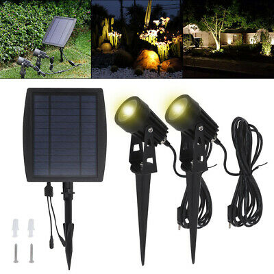 2X Solar Powered Waterproof Spot Lights Lights Garden Yard Lamps Outdoor Spotlig • 20.49£