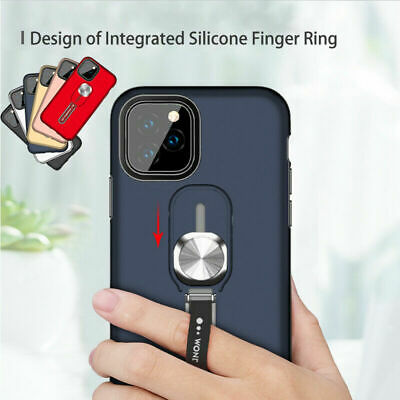 AU13.39 • Buy For IPhone 11 Pro Max XS XR 8 Magnetic Armor Finger Ring Holder Stand Case Cover
