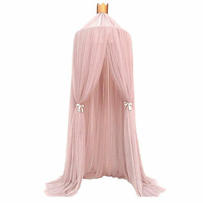 Bed Canopy Pink Mosquito Net Princess Bedroom Decor Play Tent For Baby Kids UK • 21.32£