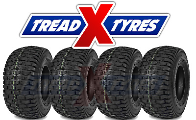 4x 4Ply Lawn Mower 13x5.00-6 Grass Tyres Four Garden Tractor Golf Buggy Turf X4 • 39.99£