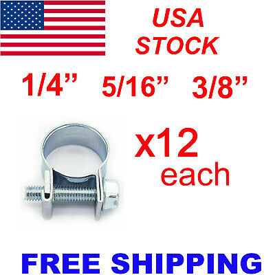 $8.89 • Buy New 30 Pcs 1/4  5/16  3/8  Fuel Injection Gas Line Hose Clamps Clip Pipe Clamp