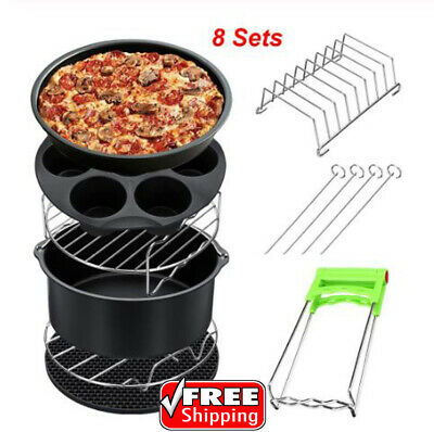 AU48.45 • Buy High Quality Air Fryer Accessories 7Inch Gowise Phillips 8 Set Fit All Airfryer