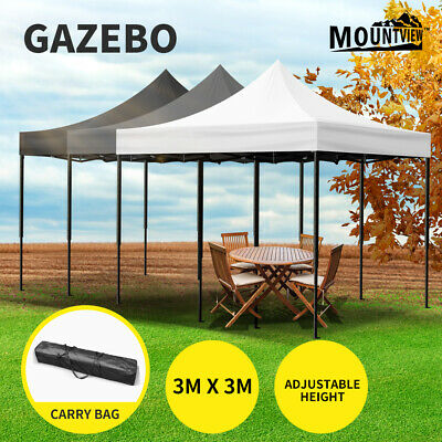 AU99.99 • Buy Mountview Gazebo Pop Up Marquee 3x3m Canopy Wedding Tent Outdoor Camping Party