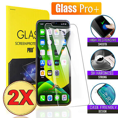 AU4.95 • Buy 2x Tempered Glass Screen Protector For Apple IPhone 11 Pro XS Max X XR 7 8 Plus