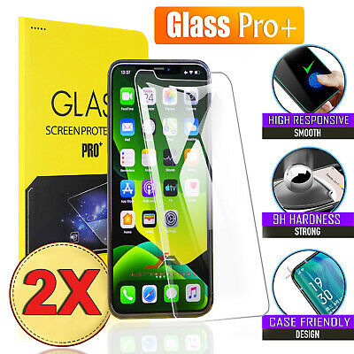 AU3.29 • Buy 2x Tempered Glass Screen Protector For Apple IPhone 11 Pro XS Max X XR 7 8 Plus