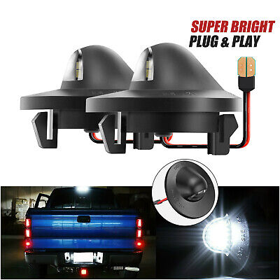 $12.99 • Buy 2 Pack For Ford F150 F250 F350 LED License Plate Light Bulb Assembly Replacement