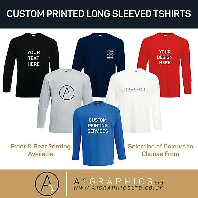 Personalised Custom Printed Long Sleeve T-Shirt Event Hen Stag Company Logo • 12.99£