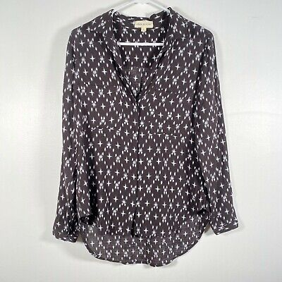 $ CDN12.56 • Buy Anthropologie Cloth & Stone S Small Button Up Long Sleeve Shirt Black