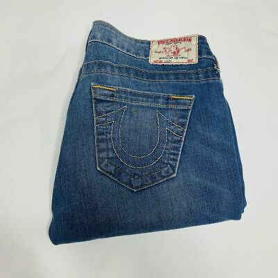 $22.49 • Buy True Religion Jeans Womens Size 27 Blue Lizzy Stretch Crop Cotton Made In USA