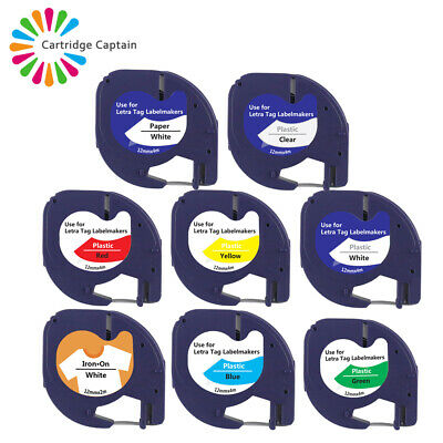 £2.89 • Buy Multipack Plastic Paper Tape 12mm For Compatible DYMO LetraTag Label Makers