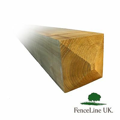 £99.95 • Buy 8ft 7 X 7  175mm X 175mm Pressure Treated Gate Post Weather Top Heavy Duty