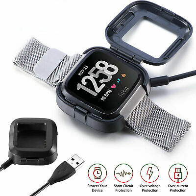$ CDN7.24 • Buy Fitbit Versa Stand USB Charger 2 For Watch Base Dock Charging Smart Replacement