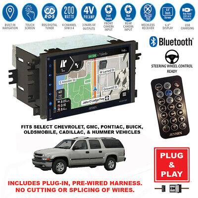 $459.99 • Buy Plug-In Double DIN GPS Navigation Bluetooth Car Stereo Radio For GM Vehicles
