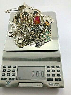 $ CDN455 • Buy Lot Of Sterling Silver Jewelry, 73 Items, 380 Grams, Not Scrap !