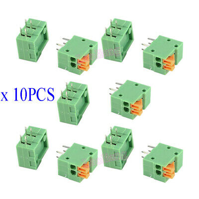 $2.99 • Buy 10Pcs KF141R-2P 2 Pin 2.54mm Pitch PCB Connector Spring Screless Terminal Block