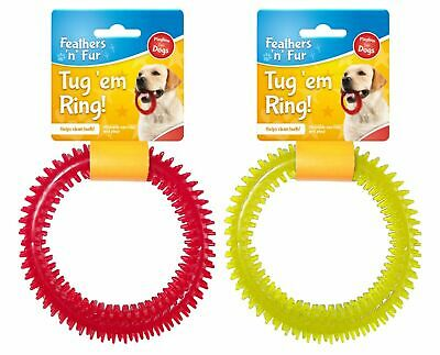 Rubber Ring Dog Tug Toy Pull Puppy Pet Play Strong Durable Dental Healthy Gums • 1.99£