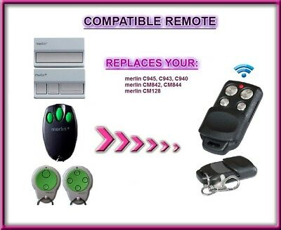 AU17.90 • Buy Merlin C945 Compatible Garage Door Remote Control, Replacement Fob 433,92Mhz