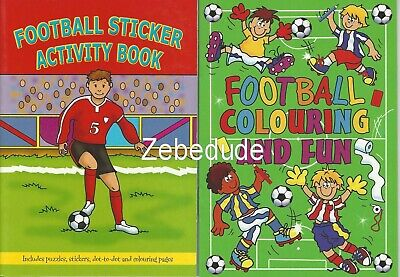 Set 2 X Children's Football Colouring Puzzle Book Stickers Activity Kids Boys • 1.99£