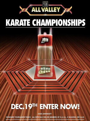 $15.22 • Buy V8939 Karate Kid Tournament All Valley From 1984 Movie Art WALL PRINT POSTER AU