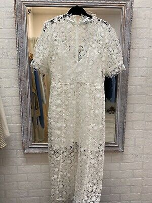 AU135 • Buy Alice Mccall Cream Lace Dress Size 10 As New