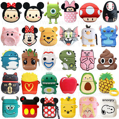 AU6.99 • Buy For Apple Airpods 1 &2 Disney Mickey Silicone Skin Charging Case Rubber Cover