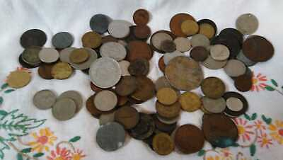 Job Lot Of Foreign Coins In A Tin • 3.50£