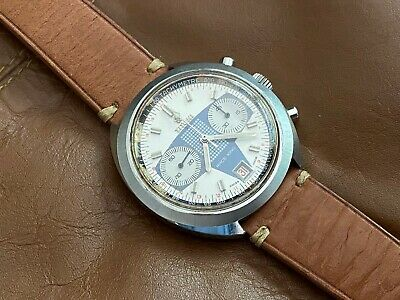 $ CDN2526.79 • Buy Vintage 1970s Titoni Race King Valjoux 7734 Manual Chronograph Racing Dial Watch