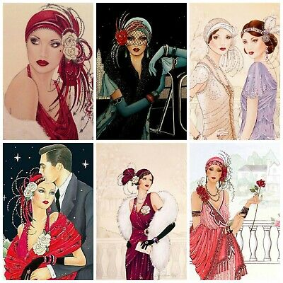 £2.90 • Buy LADIES ART DECO Card Making Toppers, Card Toppers (12)