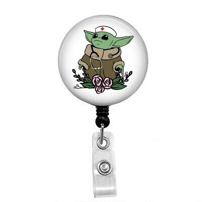 $9 • Buy Nurse Baby Yoda Badge Reel, Baby Yoda Badge Holder, Baby Yoda Gifts